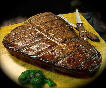 pasteles fondant para hombres de filete de carne
