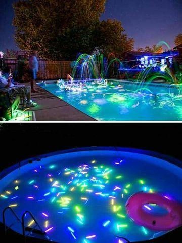 piscinas para celebrar cumpleaños de noche