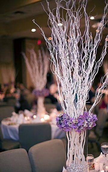 adornos con ramas secas para centros de mesa
