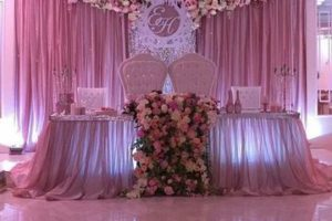 Arreglos de altares con telas para bodas y celebraciones