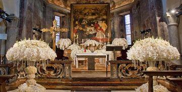 arreglos florales para boda religiosa en la iglesia