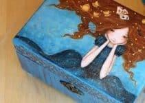 Preciosas cajas de madera decoradas para regalo con diseños