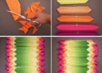 Como hacer adornos con papel crepe fáciles y bonitos