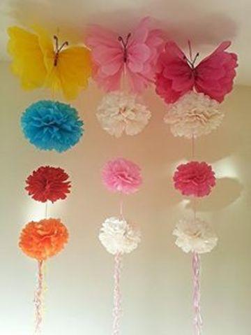 como hacer adornos con papel crepe para decorar