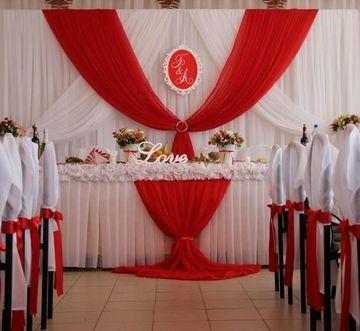 decoracion en rojo para matrimonio por iglesia