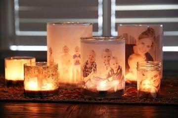 decorar botes de cristal para velas personalizados