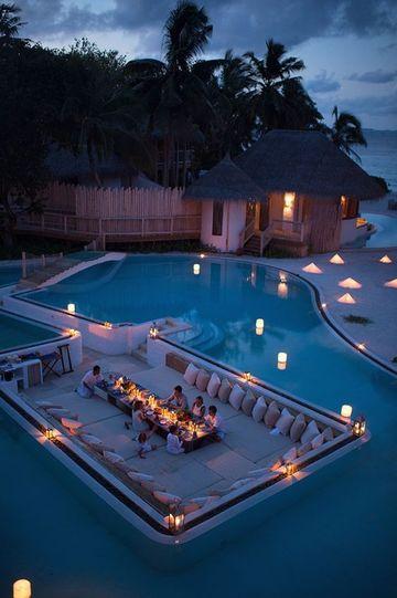 luces flotantes para piscinas con lamparas