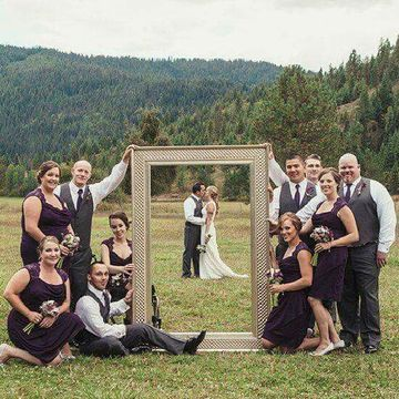 marcos gigantes para fotos de boda al aire libre
