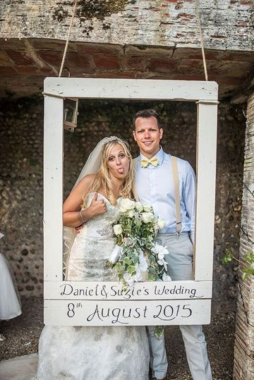 marcos gigantes para fotos de boda vintage