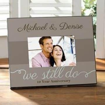 marcos para fotos de aniversario de boda decimo aniversario