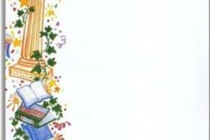 Margenes decorativos para hojas blancas para tarjetas