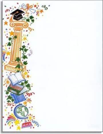 margenes decorativos para hojas blancas de graduacion