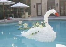 Magníficas ideas para decorar tu piscina adornada con globos
