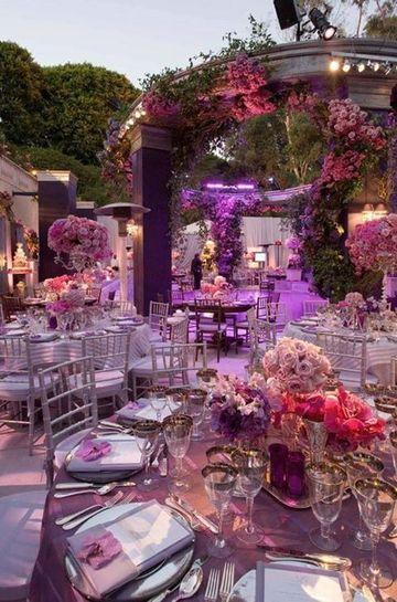 adornos de salon para boda al aire libre