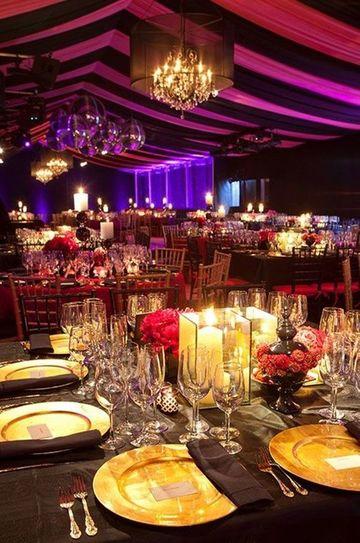 adornos de salon para boda e noche