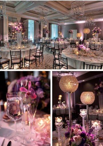 adornos de salon para boda elegante