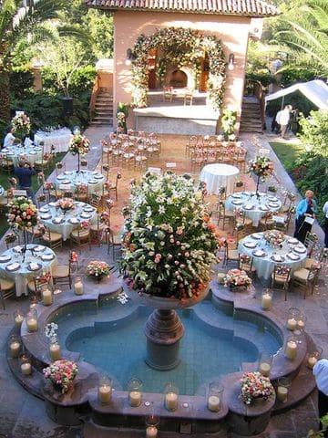 adornos de salon para boda en casa