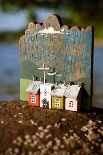 casas en miniatura de madera rusticas