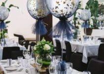 Hermosos centros de mesa con globos y tul para tus fiestas