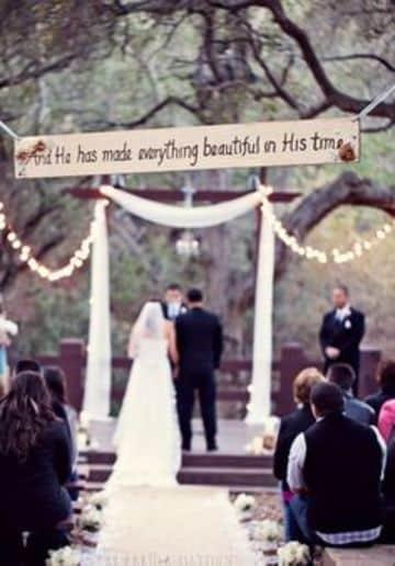 como es una boda cristiana al aire libre
