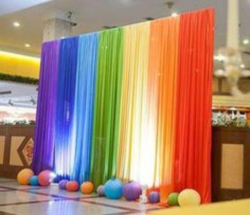 decoracion con telas paso a paso de colores