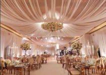 Decoracion de techos con telas para celebraciones elegantes