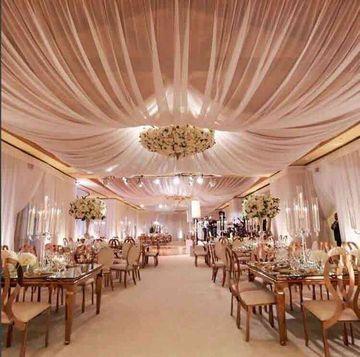 decoracion de techos con telas elegantes