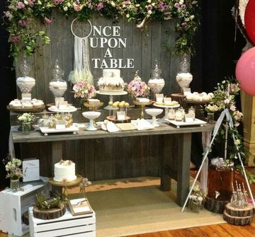 ideas para decorar mesa de dulces rustica