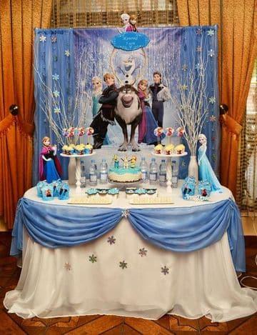 imagenes de frozen para cumpleaños para decorar la mesa