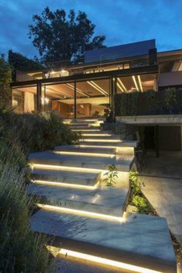 luces para casas modernas en exteriores