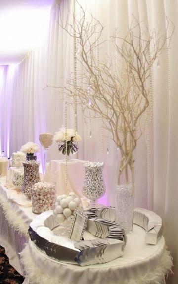 mesas de dulces para bodas elegantes sencillas
