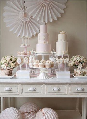 mesas de dulces para bodas elegantes vintage