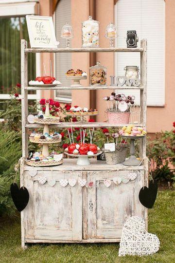mesas de dulces para bodas vintage economicas