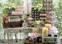 Preciosas ideas de mesas de dulces para bodas vintage