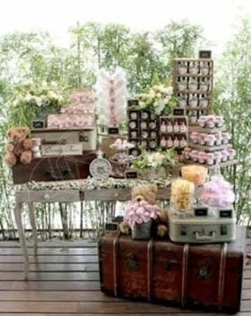 mesas de dulces para bodas vintage lindas