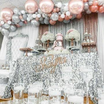 adornos con globos para fiestas de 15 años