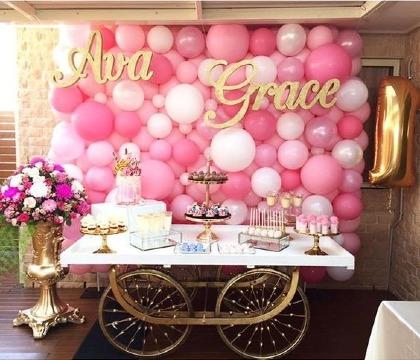 adornos con globos para fiestas infantiles