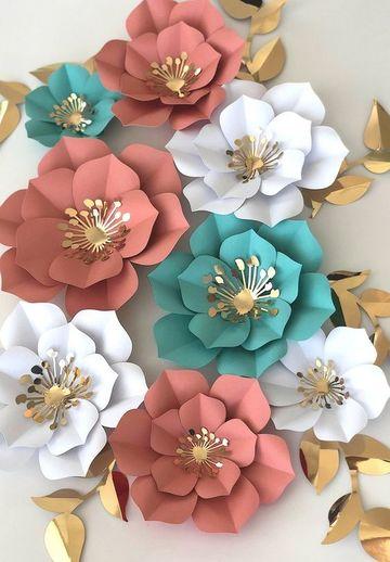 adornos de papel para cumpleaños de mujeres