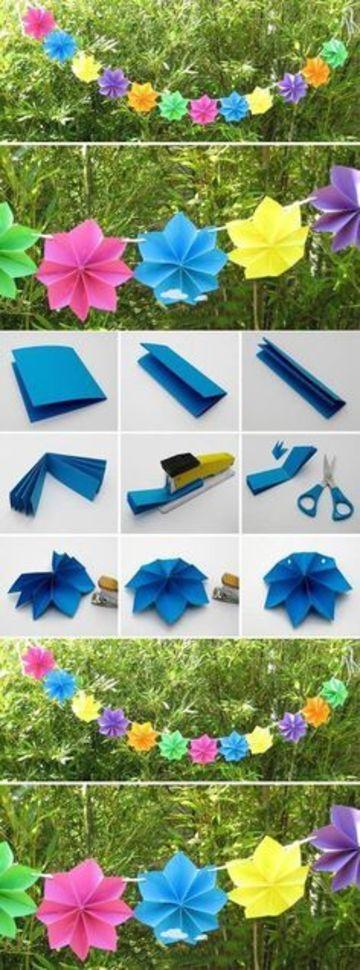 adornos de papel para cumpleaños de niños