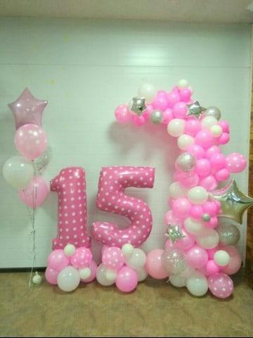 arreglos con globos para 15 años sencillos
