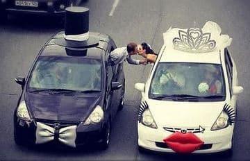 arreglos de carro para boda novio y novia