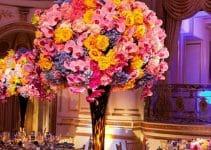 Hermosos y llamativos centros de mesa naturales para boda