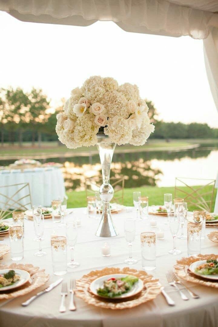centros de mesa naturales para boda sencillos
