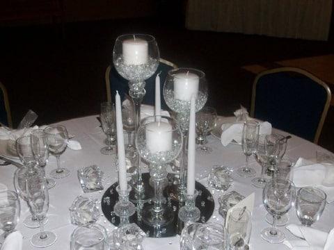 centros de mesa para bodas de plata elegantes