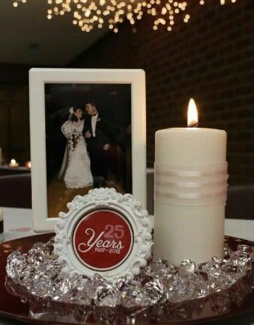 centros de mesa para bodas de plata sencillos