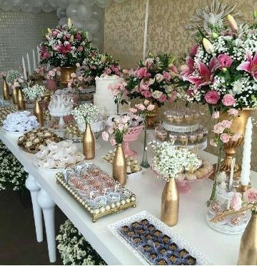 como decorar mesas de dulces para bodas elegantes