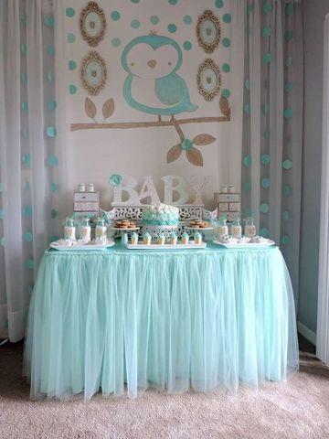 como decorar una fiesta de baby shower sencillo
