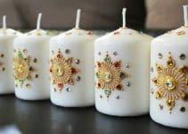 Como decorar velas artesanales con colores y varios adornos