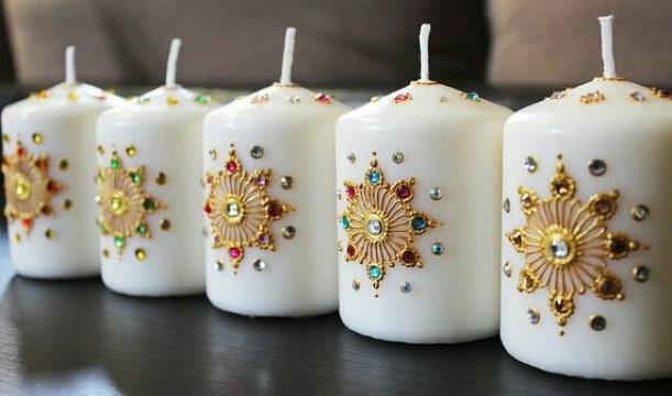 como decorar velas artesanales elegantes