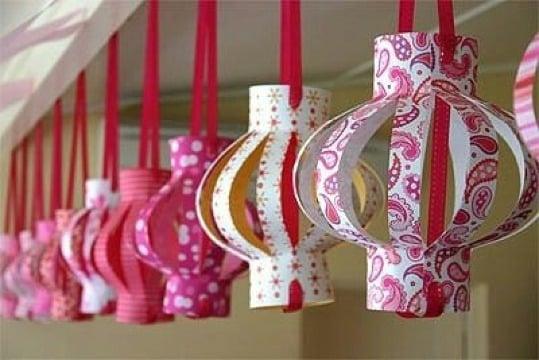 como hacer faroles de papel facil